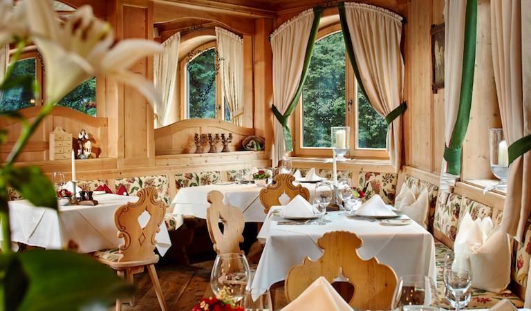 austrian tyrol, ski and spa, dining room