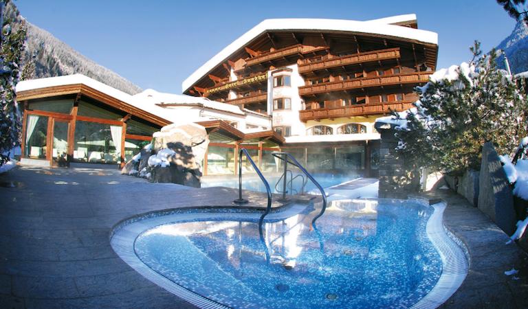 spa and ski, austrian tyrol, hotel outside