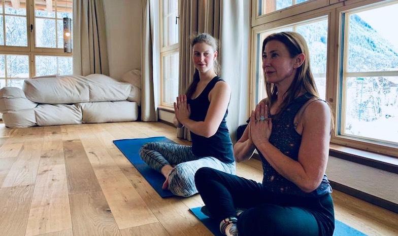 spa and ski, yoga, sharon's photo, austrian tyrol, healthista