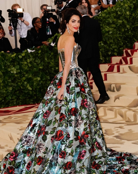 Amal Clooney at Heavenly Bodies Costume Gala