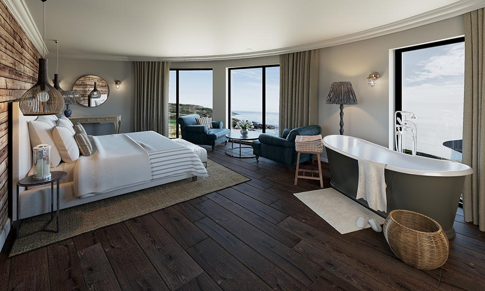 Gara Rock hotel spa review BEDROOM WITH VIEW