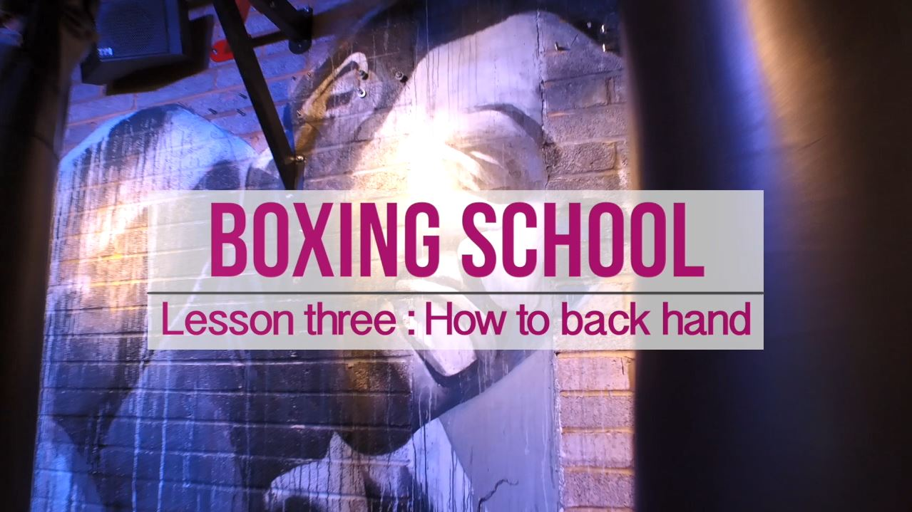 Lesson 3 how to back hand