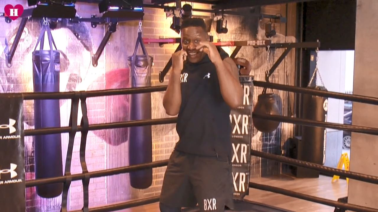 boxing school lesson #2 jab left hand higher than right hand