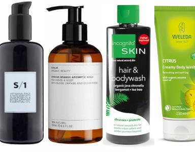 organic shower gels feature