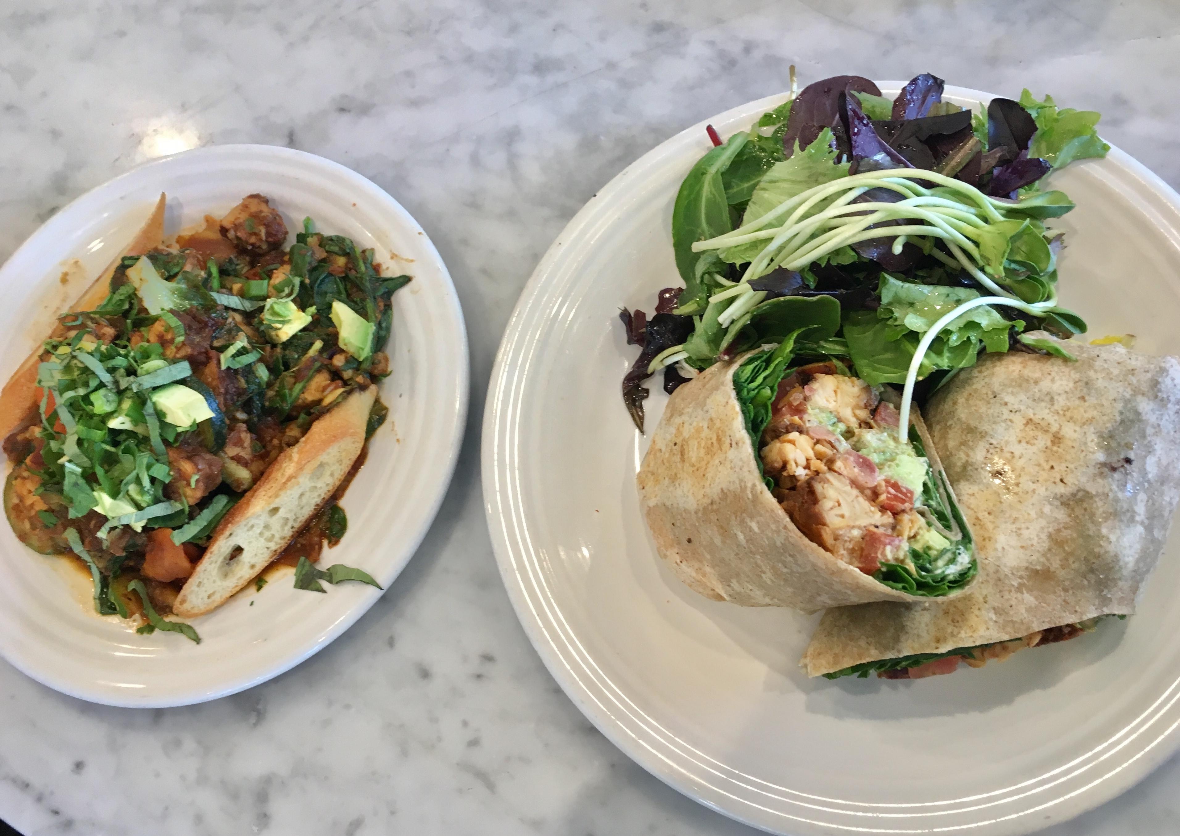 cafe gratitude, vegan restaurants