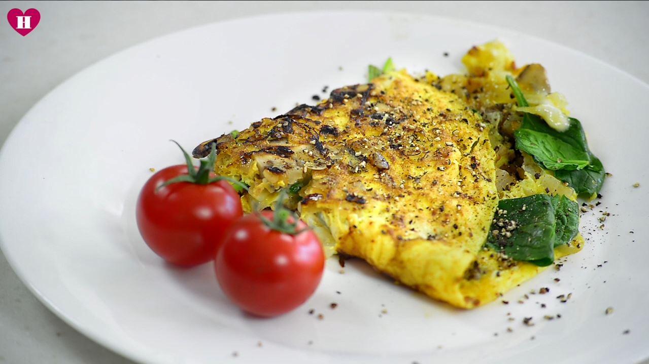 Musroom omelette Healthista