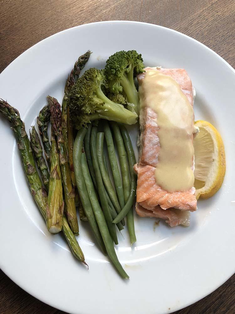 Portein salmon and veg 1