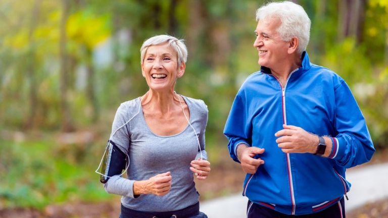 how to stop ageing - old people jogging - anti ageing