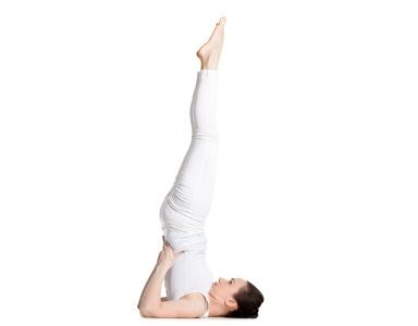 30 day yoga challenge - day 27 - shoulder stand