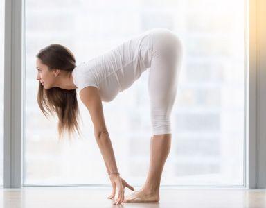 how to do forward fold  yoga pose  day 26  healthista
