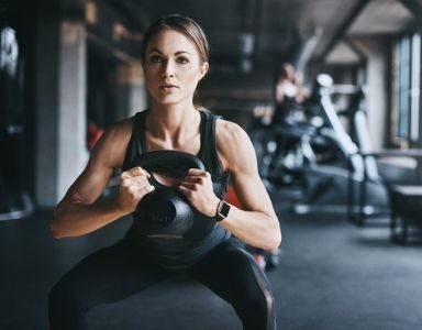 kettlebell workout - glute fat burn - featured
