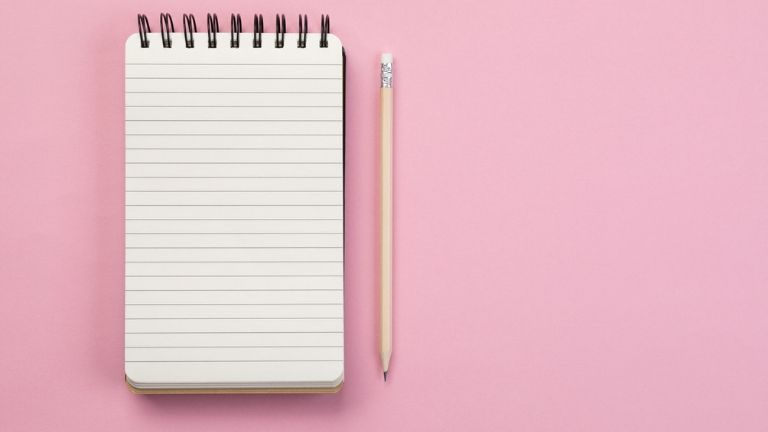 time management happiness - checklist pink
