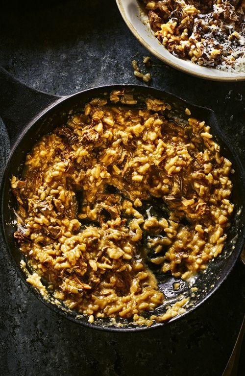 easy dinner ideas - mushroom risotto