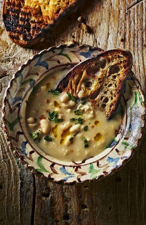 easy dinner ideas - white bean soup