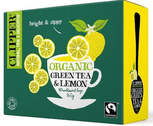 green tea with lemon clipper