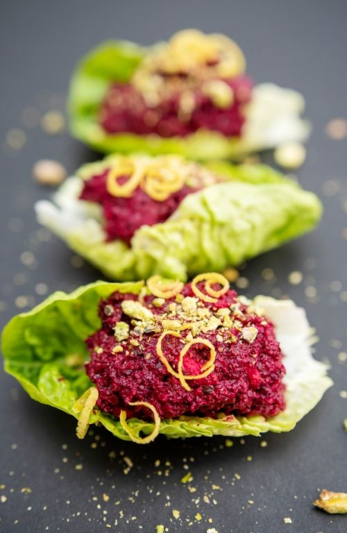 plant-based recipes - mindful kitchen - beetroot pistachio dip