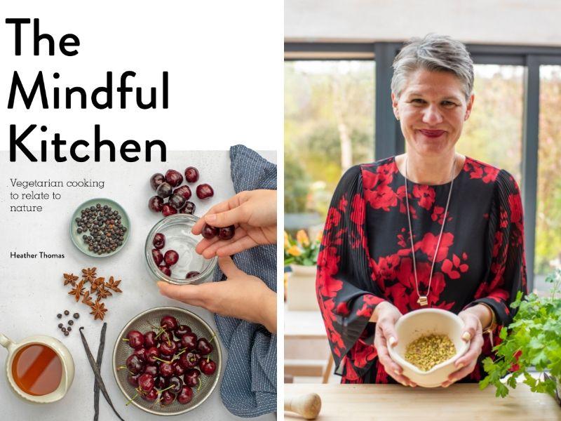 plant-based recipes - mindful kitchen - book jacket and author headshot