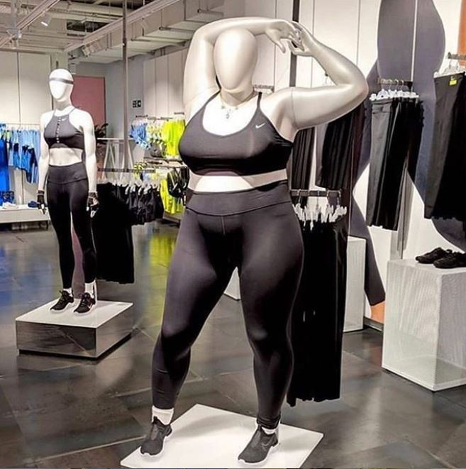 Nike plus sized mannequin