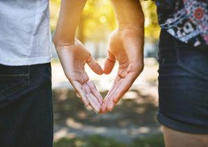 love tips back heart
