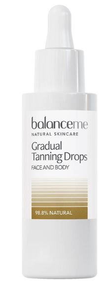 sun-damaged skin fix - balanceme Grandual Tanning Drops