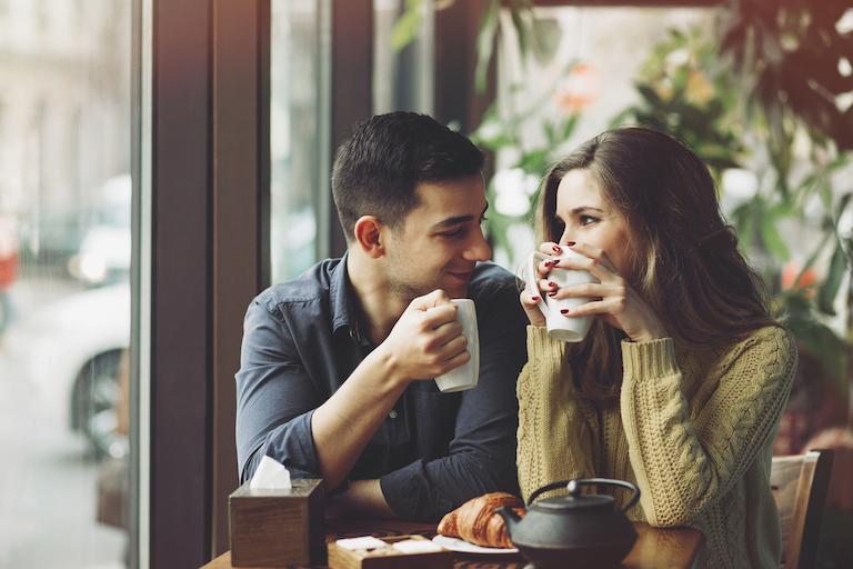 happy couple finding true love body image