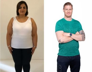 Dina's Transformation week 1 FEATURED weight-loss transformation
