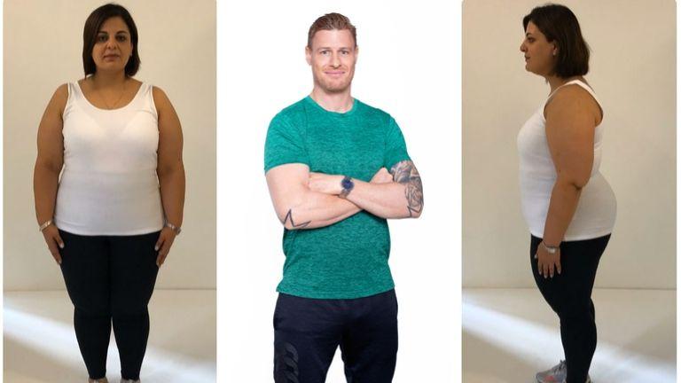 Dina's Transformation week 1 MAIN weight-loss transformation