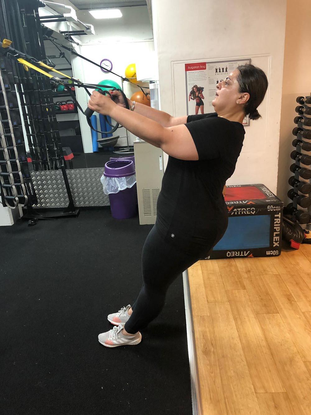 dina workout weight-loss transformation