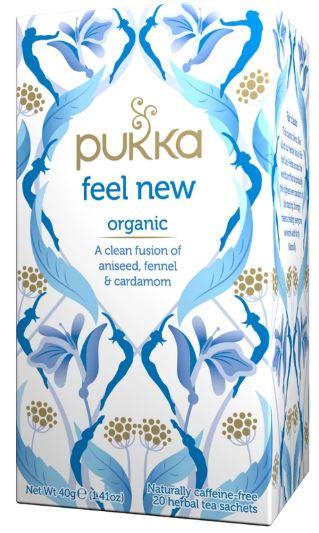pukka feel new tea