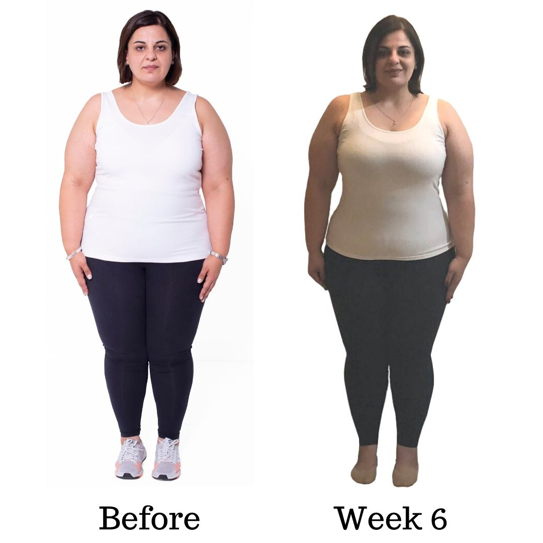 Before and after Dinas transformation WEEK SIX