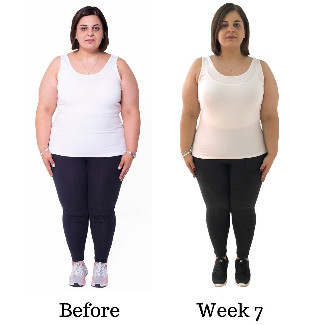 Before and after Dinas transformation WEEK SSEVEN