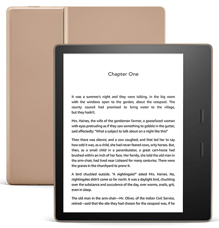 Kindle Oasis, Gold cropped