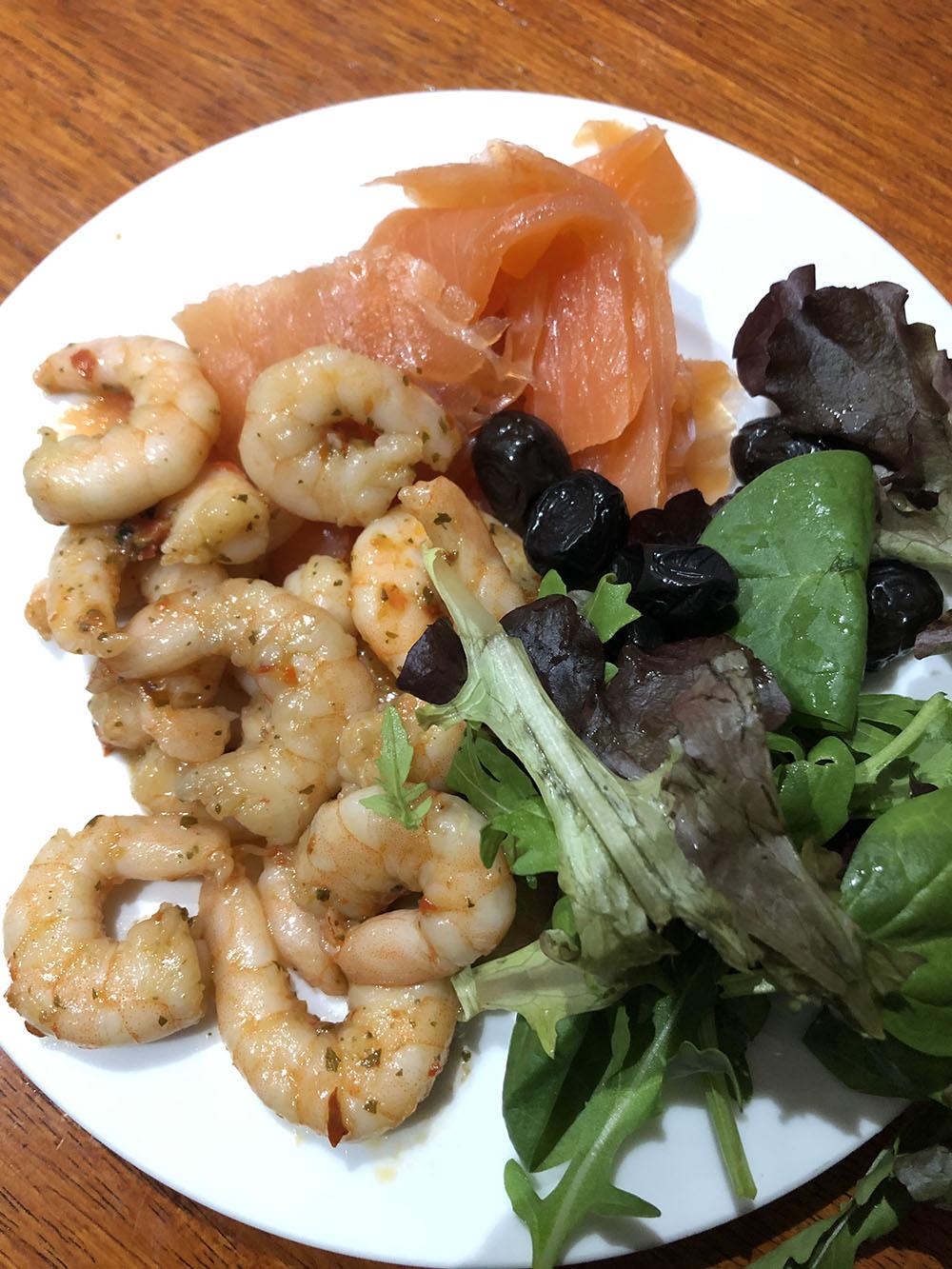 food transformation dina salmon prawn lunch