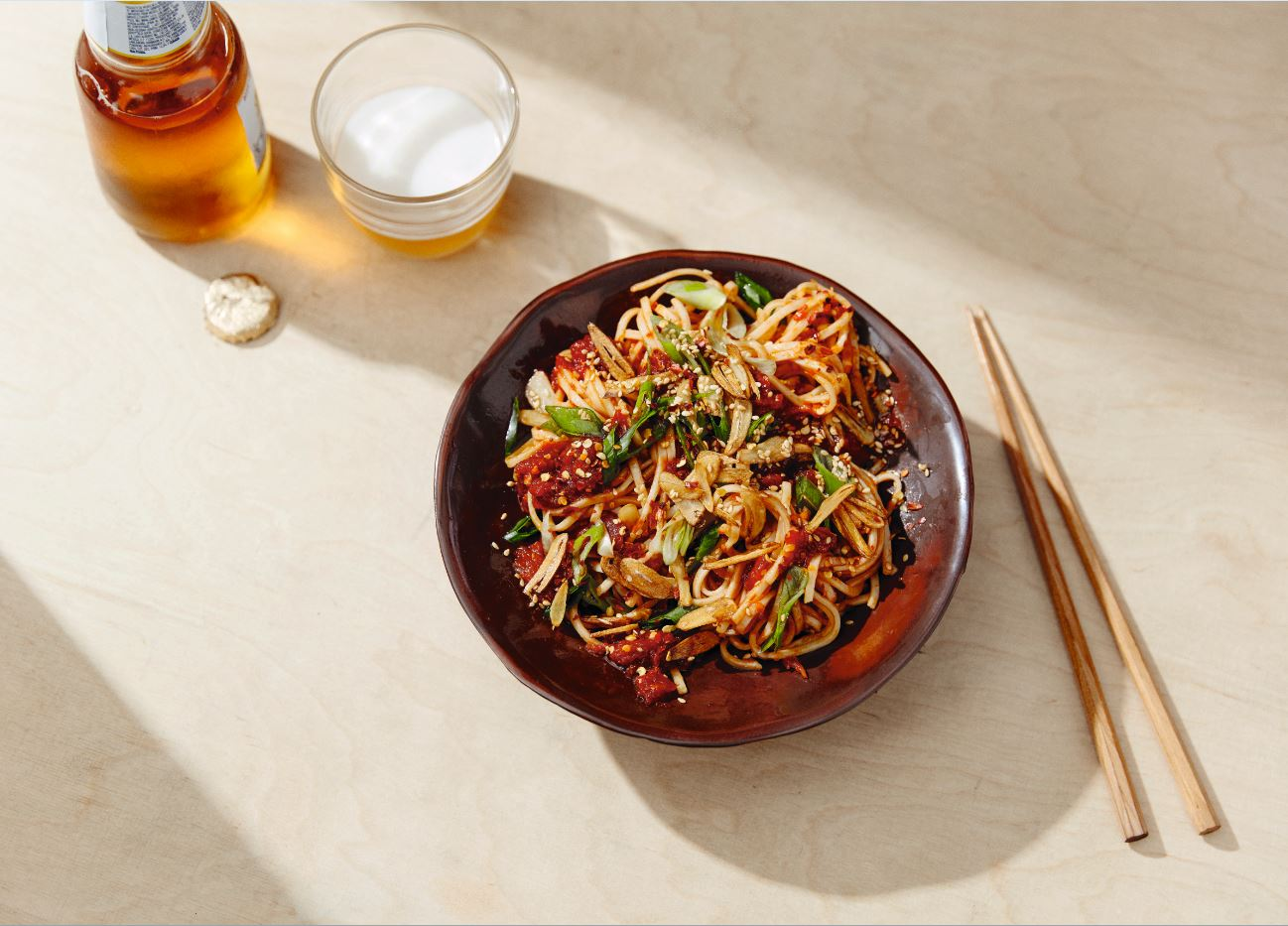 Chilled-chili-tomato-noodles-Healthy dinners - 5 easy recipes from a tin