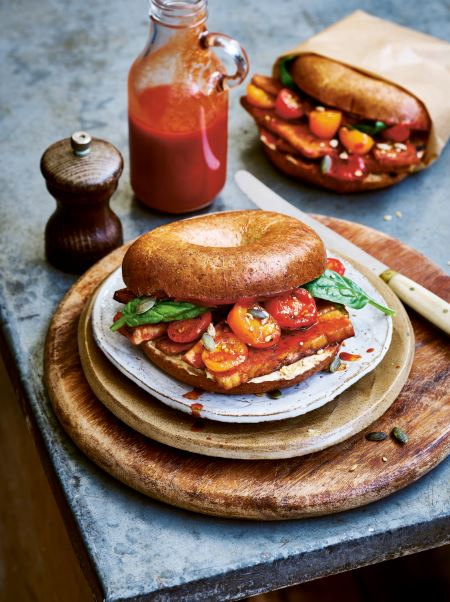 Tempeh bacon bagels protein packed vegan recipes