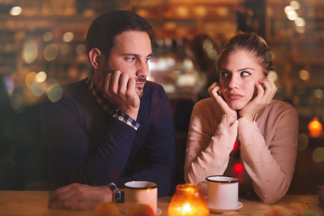 first date not going well