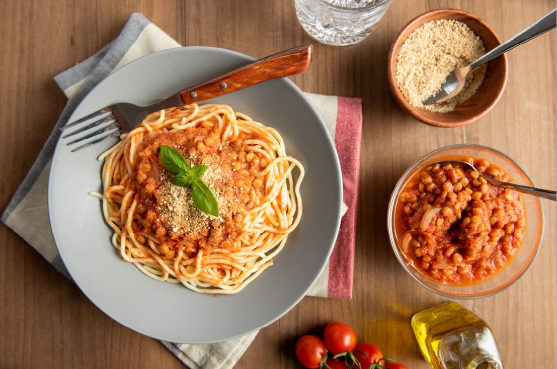 lentil spaghetti bolognese save the planet climate friendly food swaps