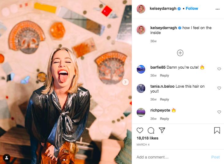 Kelsey darragh mental health instagram