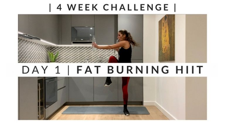 Home Workout Challenge for body and mind_ fat burning HIIT - week one, day one MAIN