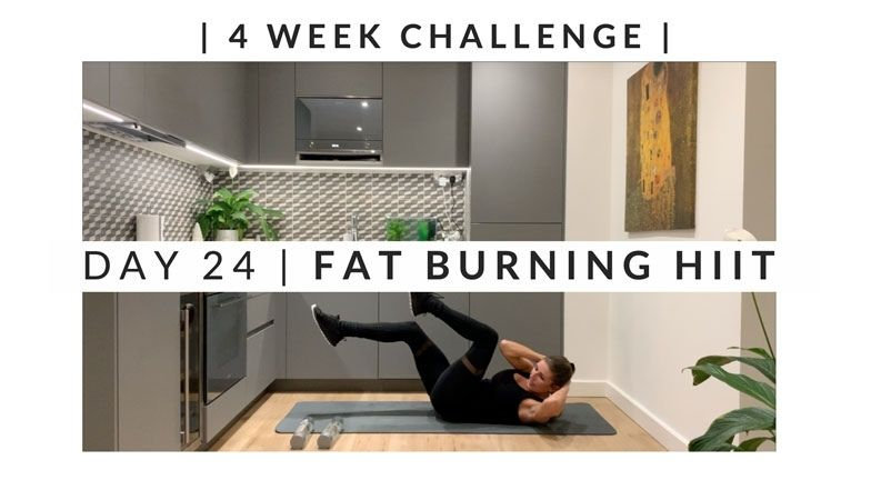 Home Workout Challenge for body & mind: fat burning HIIT – week four, day 24