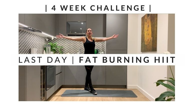 Home Workout Challenge for body & mind: fat burning HIIT – week four, day 26 (Last Day)