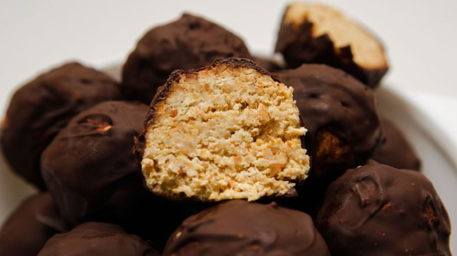 Chocolate covered protein balls f45 kim bowman