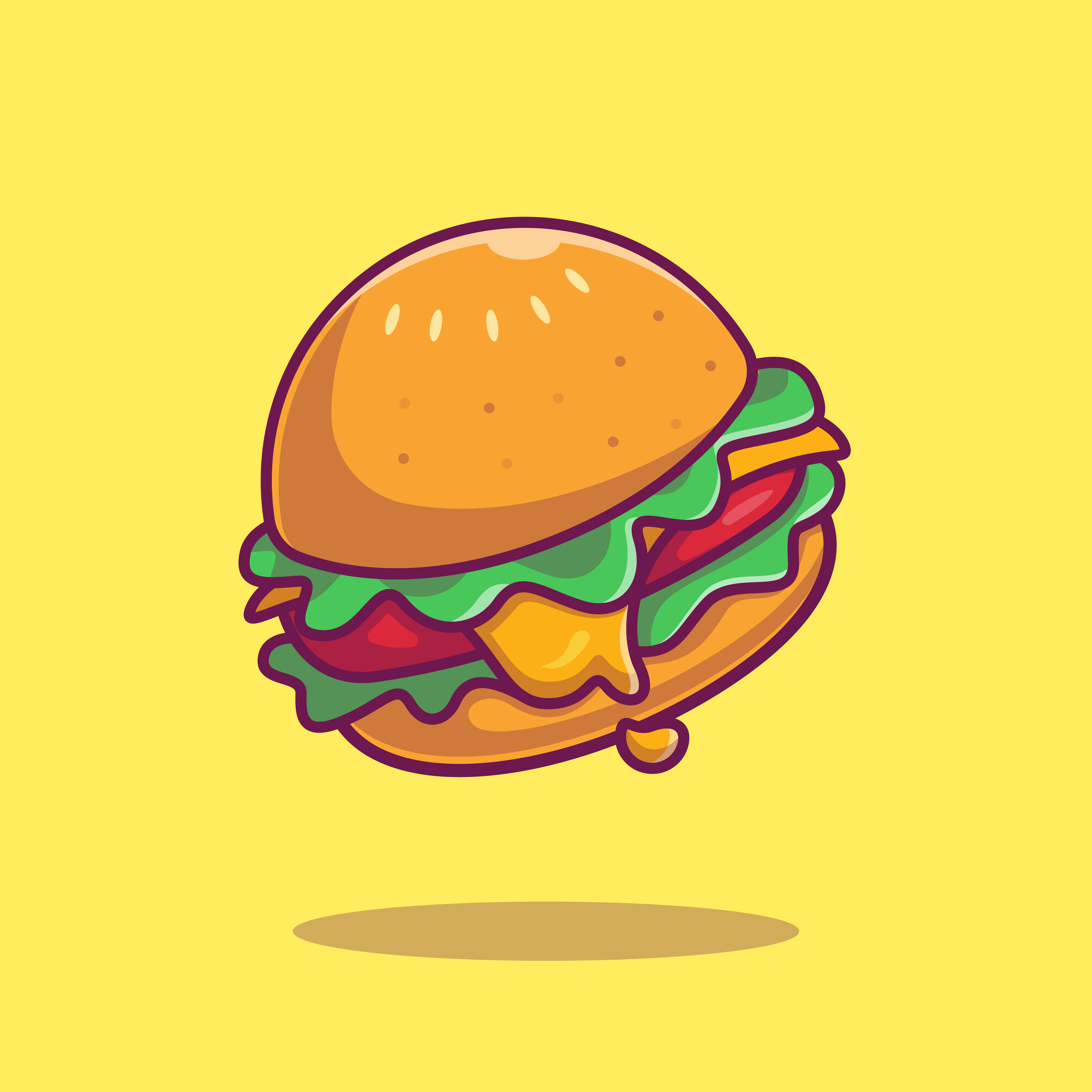 eating disorder cartoon burger