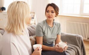 friends talking eating disorder