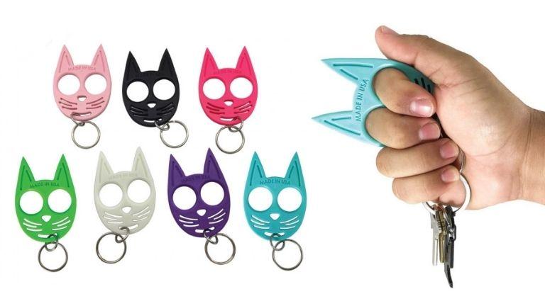 travel bag essentials Streetwise Security My Kitty Self-Defense Keychain