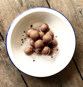 peanut butter chocolate protein balls