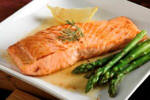 hairdressers guide to healthy, shiny hair eat nourishing food salmon